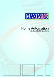 Home Automation. intelligent building systems