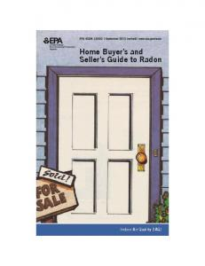 Home Buyer s and Seller s Guide to Radon