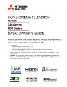 HOME-CINEMA TELEVISION MODELS