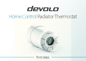 Home Control Radiator Thermostat. first steps
