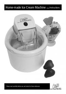 Home-made Ice Cream Machine 9504 Instructions