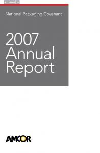 HOME. National Packaging Covenant Annual Report