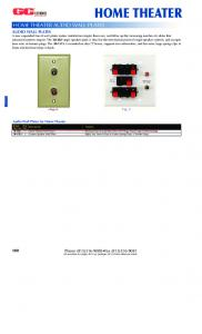 HOME THEATER HOME THEATER AUDIO WALL PLATES