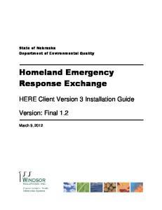 Homeland Emergency Response Exchange