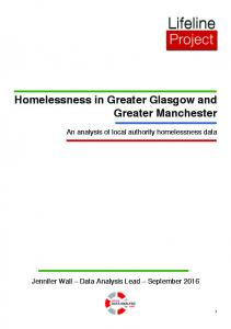 Homelessness in Greater Glasgow and Greater Manchester. An analysis of local authority homelessness data