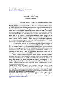 Homenaje a Aldo Ferrer 1 Tribute to Aldo Ferrer