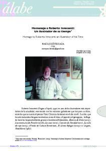 Homenaje a Roberto Innocenti: Un ilustrador de su tiempo 1. Homage to Roberto Innocenti: an Illustrator of his Time