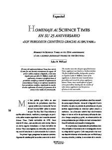HOMENAJE AL SCIENCE TIMES