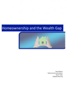 Homeownership and the Wealth Gap