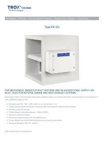 Homepage > Products > Fire and Smoke Protection > Smoke Control Damper > Type EK-EU. Type EK-EU