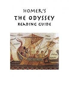 Homer s. The Odyssey Reading Guide