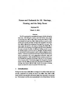 Homes and Husbands for All: Marriage, Housing, and the Baby Boom