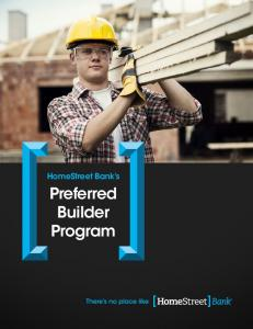 HomeStreet Bank s. Preferred Builder Program