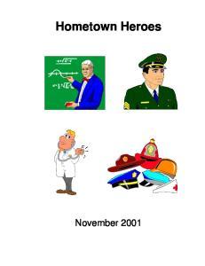 Hometown Heroes November 2001