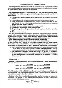 Homework 1. and P (X < 2) =