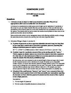 HOMEWORK 3 KEY. Questions. ENTS 689i Network Immunity Fall 2008