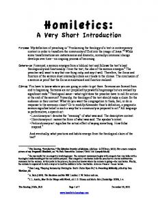 Homiletics: A Very Short Introduction