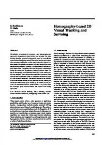 Homography-based 2D Visual Tracking and Servoing