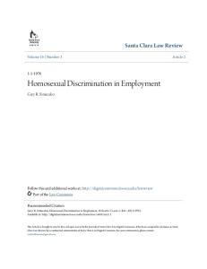 Homosexual Discrimination in Employment