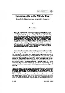 Homosexuality in the Middle East: