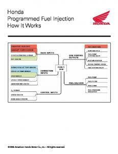 Honda Programmed Fuel Injection How It Works