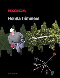 Honda Trimmers 2016 CATALOG