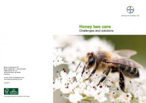 Honey bee care Challenges and solutions