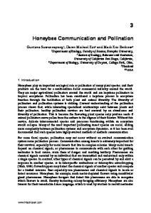 Honeybee Communication and Pollination