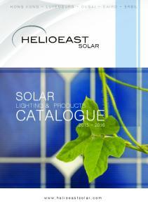 HONG KONG - LUXEMBURG - DUBAI - CAIRO - ERBIL SOLAR LIGHTING & PRODUCTS CATALOGUE