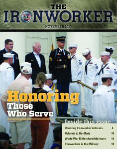 Honoring. Those Who Serve NOVEMBER 2013