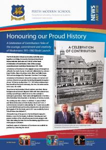 Honouring our Proud History