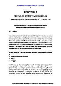HOOFSTUK 3 TOEPASLIKE KONSEPTE VIR 'N MODEL IN MAATSKAPLIKEWERK PRIVAATPRAKTYKBESTUUR