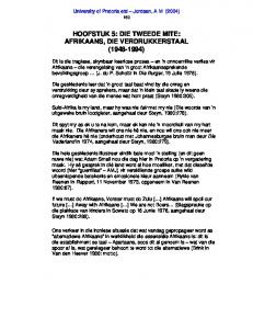 HOOFSTUK 5: DIE TWEEDE MITE: AFRIKAANS, DIE VERDRUKKERSTAAL ( )