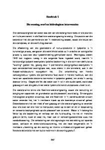 Hoofstuk 5. Die woning, werf en hidrologiese intervensies