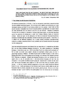 HOOFSTUK II FASCISME IN SliID-AFRIKA GEDURENDE DIE FASCISTIESE ERA,