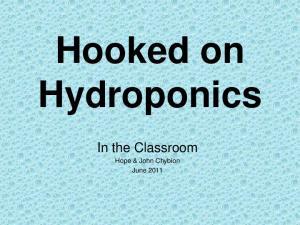 Hooked on Hydroponics
