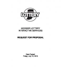 HOOSIER LOTTERY INTERACTIVE SERVICES REQUEST FOR PROPOSAL