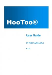 HooToo. User Guide. HT-TM03 TripMate Mini V 1.0