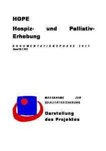 HOPE Hospiz- und Palliativ- Erhebung