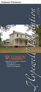 Hopewell Plantation. c opewe Plantation. Department of Historic Properties clemson