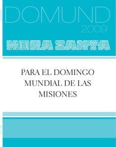 HORA SANTA PARA EL DOMINGO MUNDIAL DE LAS MISIONES