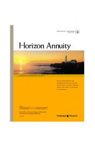 Horizon Annuity. Issued by Pruco Life Insurance Company (in NY, issued by Pruco Life Insurance Company of New Jersey)