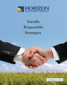 HORIZON. Socially Responsible Strategies
