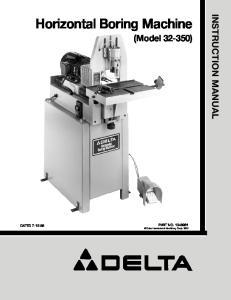 Horizontal Boring Machine (Model )
