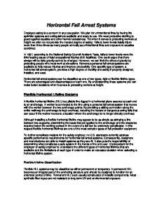 Horizontal Fall Arrest Systems