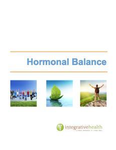 Hormonal Balance. Stress Hormones