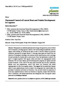 Hormonal Control of Lateral Root and Nodule Development in Legumes