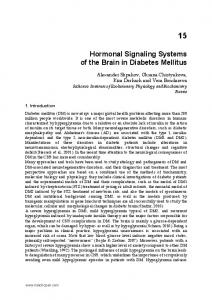 Hormonal Signaling Systems of the Brain in Diabetes Mellitus