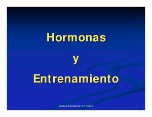 Hormonas y Entrenamiento. Curso Entrenadores FAT Nivel 3