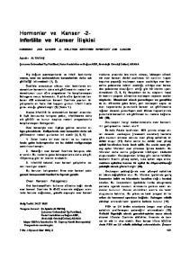 Hormonlar ve Kanser -2- Infertilite ve Kanser İlişkisi